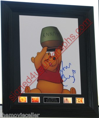 "JIM CUMMINGS SIGNED   ""WINNIE THE POOH""  SIGNED  AUTOGRAPH FRAMED"