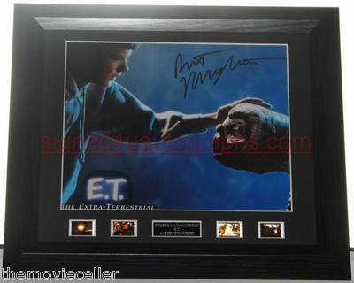 "Robert MacNaughton Signed ""E.T."" Michael'  FRAMED"
